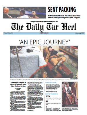 The Daily Tar Heel Front Page: January 27, 2012